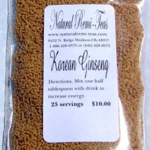 TKE Health - Natural Herbal Teas - Korean Ginseng Tea